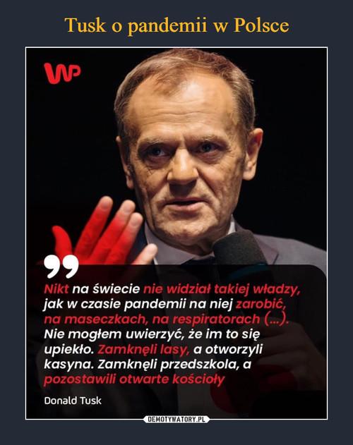 Tusk o pandemii w Polsce