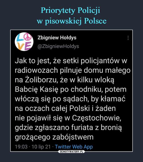 Priorytety Policji  w pisowskiej Polsce