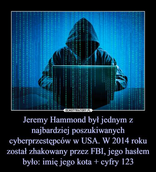 Jeremy Hammond był jednym z najbardziej poszukiwanych cyberprzestępców w USA. W 2014 roku został zhakowany przez FBI, jego hasłem było: imię jego kota + cyfry 123