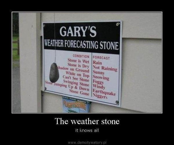 The weather stone – it knows all