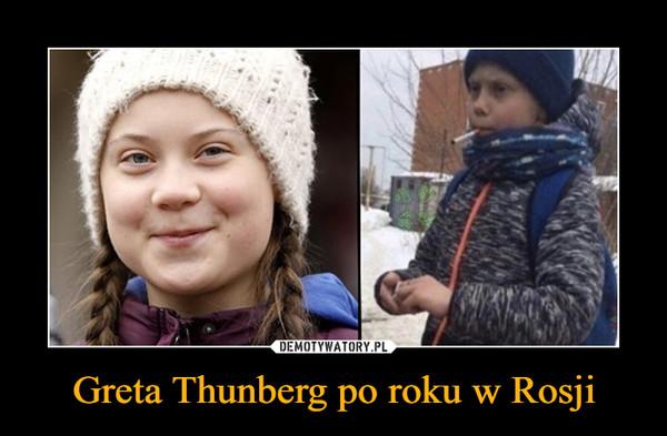 Greta Thunberg po roku w Rosji